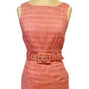 Banana Republic Red Belted Sheath Dress Size 00